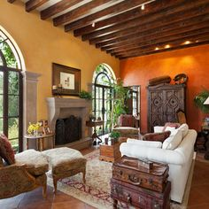 Mediterainian Wall Colors Design Ideas, Pictures, Remodel and Decor
