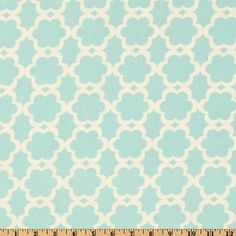 "Kumari Garden Tarika Blue. $8.98 per yd. 44"". Love the geometric design and the teal and white contrast!"