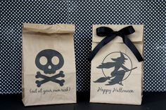 How to print on paper lunch bags - this is a great idea for party favors!