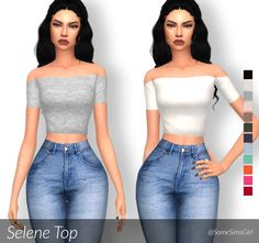 ♥ Selene Top! ♥ • comes in 12 colors • standalone • custom thumbnail • read my…