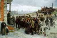 """[Gemälde: Robert Koehler """"Der Streik"""", 1886]"""