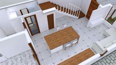 Small Home design Plan with 3 Bedroom - SamPhoas Plan 3d House Plans, Model House Plan, Dream House Plans, Small House Plans, Duplex House Design, Simple House Design, Minimalist House Design, Minimalist Home, Home Design Plans