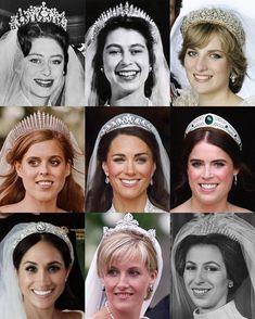 Royal Brides, Royal Weddings, Princess Kate Middleton, Princess Diana, Duke And Duchess, Duchess Of Cambridge, Royal Family Pictures, Royal Blood, Royal Tiaras