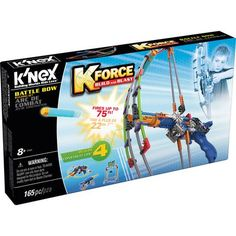 Knex K-force Battle Bow Building Set - Build 4 different blaster and target models in one set with the Battle Bow! Fires up to 75 feet! Set includes K'NEX rods and connectors plus special parts. Green Manufacturing, Natural Curiosities, Canada, Toys For Boys, So Little Time, Toy Story, The Fosters, Battle, Bows