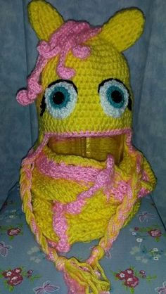 Fluttershy inspired hat and cowl