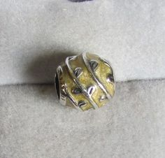 Pandora Beige Vines enamel bead Retired charm Authentic 790525EN19 leaf yellow #Pandora #European