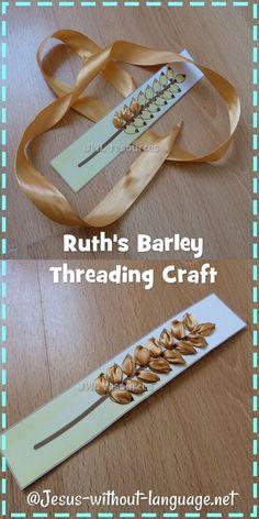 Ruth barley threading cards #Jesuswithoutlanguage: