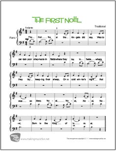 Download and Print The First Noël Free Beginner Piano Sheet Music. MakingMusicFun.net Edition Includes Unlimited Prints. Instrumental Solo. Format:PDF Pages:2