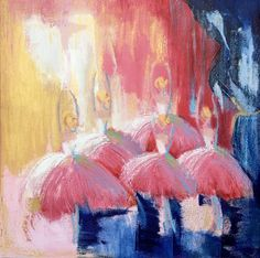 """Corps de Ballet II"" by Jan Brown. Paintings for Sale. Bluethumb - Online Art Gallery"