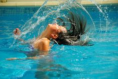 """If you're in the swimming pool a lot, the chlorine, bromine, salt and other chemicals can be very harsh on your skin, hair, and swim gear. To help you keep yourself and your loved ones healthy and safe from pool chemical-related problems, click """"visit"""" to see our tips on how to protect skin, hair and swim gear from pool chemicals."""