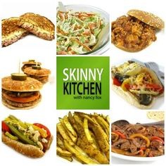 Skinny, Easylicious Super Bowl Recipes! I'm sharing my favorite main course hot sandwiches and some skinny sides to serve with them. http://www.skinnykitchen.com/recipes/12-skinny-easylicious-super-bowl-recipes/