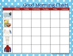 """A Daily Dose of Davis: A """"Good Morning Chart"""" For Toddlers & Preschoolers"""