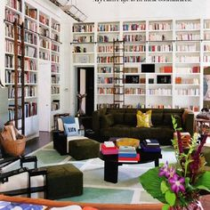 #library chez @dianevonfurstenberg =  #interiorporn in my book… pun intended!! #bookshelves #gorgeous