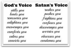 Gods Voice Vs Satans