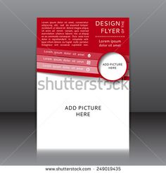 Design Of The Red Flyer Vector Illustration Whit Text Elements And