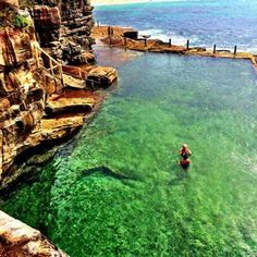 McIver's Baths, Coogee one of the stunning natural swimming pools found on some of Sydney's beachs.