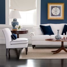 Love this wall color! ethanallen.com - newport thorton coffee table | ethan allen | furniture | interior design