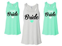 BRIDE SHIRT Bridal Party Tanks Team Bride by TheNewMrsShoppe