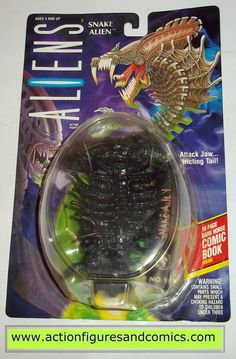 Kenner ALIENS vs PREDATOR action figures for sale to buy 1994 SNAKE ALIEN New - Still Factory Sealed in the original package Condition: Overall a great display peice, minor shelf wear only package siz