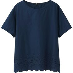 Women's Embroidered Short Sleeve Blouse