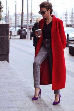 Red Oversize Coat