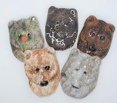 Maztex Designs Marie New handmade ceramic bear cabochons jewellery making bead embroidery components