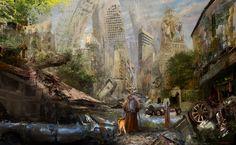 Post Apocalyptic Scene, Vladimir Gasai. #postapocalyptic #Art #gosstudio .★ We recommend Gift Shop: http://www.zazzle.com/vintagestylestudio ★
