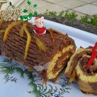 Buche de Noël met gekonfijte sinaasappelen : Recepten van Domy