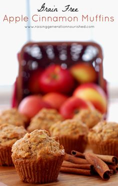 #GrainFree Apple Cinnamon Muffins :: #GlutenFree, #Paleo / #Primal // deliciousobsessions.com