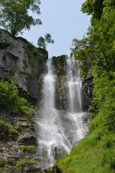 At 240ft, Pistyll Rhaeadr Waterfalls, in Wales' Berwyn Mountains, is the UK's tallest single drop waterfall