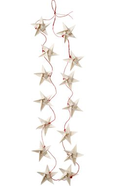 Christmas Hand Made Paper Star Garland in Christmas Decorations