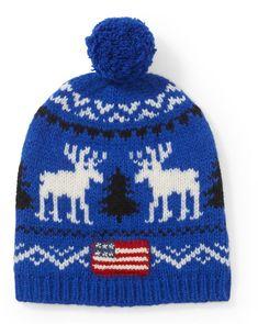 2f27e435023f Bonnet en laine à motif renne signé Polo Ralph Lauren   orné d un motif