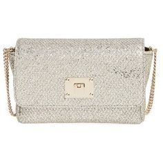 Jimmy Choo 'Ruby' Glitter Clutch (6.560 NOK) ❤ liked on Polyvore featuring bags, handbags, clutches, champagne, jimmy choo handbag, jimmy choo purses, glitter clutches, jimmy choo clutches y champagne purse