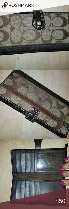 Coach wallet Brown and tan coach wallet. Used but no signs of wear Coach Bags Wallets