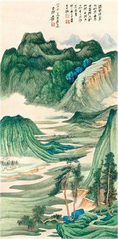 La ilustración pertenece a un paisaje de Sichuan, provincia donde transcurre la novela, durante la primavera.  Me interesó esta imagen ya que al observarla, refleja a la montaña del Fenix del Cielo, nombrada y descrita constantemente durante la novela.  Por lo tanto, es una forma de ver todo esto e imaginar a los personajes y hechos en la imagen.  Juliana Di Primio