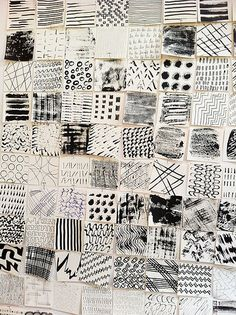 Workshop mit Claudia Helmer und Claire Benn - Lines & Rows: Rhythm and Repetition Collage Kunst, Collage Art, Black And White Abstract, White Art, Motifs Textiles, Art Textile, A Level Art, Gcse Art, Mark Making
