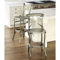 Constance Metal Counter Stool | Ballard Designs Add a cushion for a bit of warmth and color!