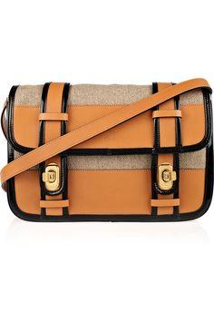Chloé Billie leather and linen shoulder bag