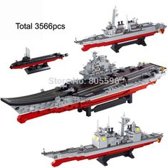 (199.00$)  Watch more here - http://aijv7.worlditems.win/all/product.php?id=1851290468 - 3566pcs Carrier battle group compatible with  Building Block Set Construction Brick Toys Educational Block toy for Children