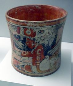 Late Classic Maya cup in the Museum of the Americas, Madrid. Item 1991/11/11, from Guatemala