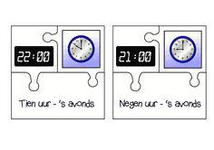 Juf Shanna: Flitskaarten klokkijken digitaal en analoog