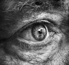 Self Eye Study in Pencil! art drawing, eye, wrinckles, aged, powerful, intense, emotional, strong, art, artwork