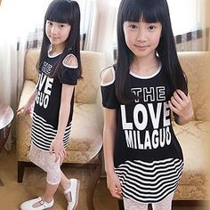 Kids Cutout Short Sleeves Lettering T-shirt from #YesStyle <3 Conny Style YesStyle.com