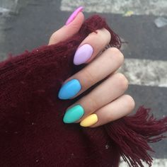 Want some ideas for wedding nail polish designs? Cute Summer Nails, Cute Nails, Pretty Nails, My Nails, Summer Acrylic Nails, Cute Acrylic Nails, Pastel Nails, Simple Nail Art Designs, Short Nail Designs