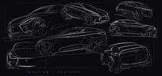 Concept for a 2 doors sportback Infiniti.