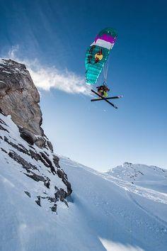 Speedriding Les Arcs, Savoie, France. Photo: Tristan Shu