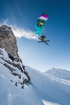 Speedriding Les Arcs, Savoie, France. Photo: Tristan Shu