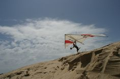 Hang Gliding Jockey's Ridge, Kill Devils Hill, NC ~ adjacent to the Wright's Brothers Museum where the first plane was flown. OBX