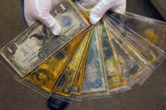 Banknotes recovered from the wreck of the Titanic