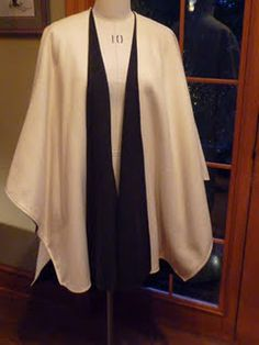Simple poncho/cape pattern
